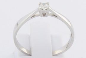 Годежен пръстен от бяло злато с диамант YZ82771