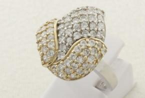 Дамски сребърен пръстен с циркони SD0125
