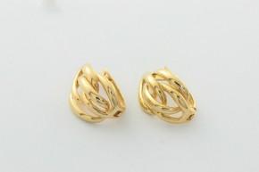 Дамски обeци от жълто злато - 2,94  грама, дължина на обецта   14  мм. ,ширина 10 мм.