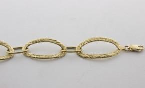 Златна гривна от  жълто злато GR0020 - дължина 19 см., ширина 15 мм.