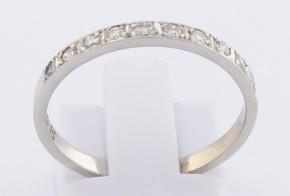 Дамски пръстен от бяло злато с диаманти D1068