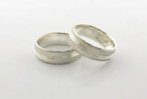 Брачни халки от сребро BH0227