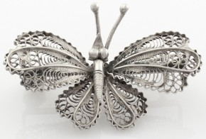 Сребърна брошка  от филигран  SB0014