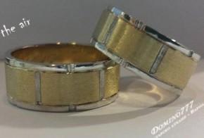 Брачни халки от бяло  и жълто злато BH0094