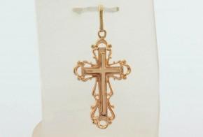 Златен кръст от жълто злато VKN0054