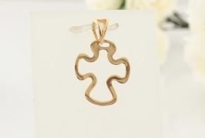 Златен кръст от жълто злато VK0061