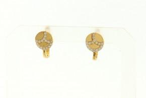 Детски златни обеци от жълто злато с циркони OBD0042