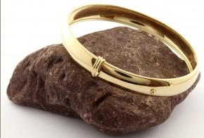 Златна  твърда гривна от жълто златo GR0184