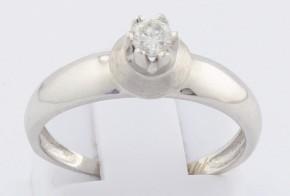 Годежен пръстен от бяло злато с диамант D1168
