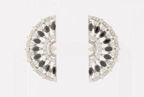 Сребърни обеци с циркони SO0068