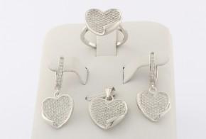 Дамски сребърен комплект с циркони SKT0005