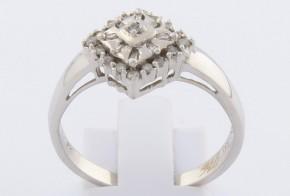Дамски пръстен от бяло злато с диаманти D976