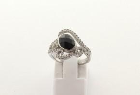 Дамски сребърен пръстен  с циркони SD0179