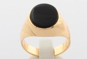 Мъжки пръстен от жълто злато MD0011