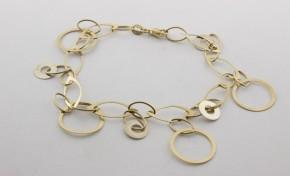Златна гривна от жълто злато GR0022 - дължина 18 см., ширина 6 мм.
