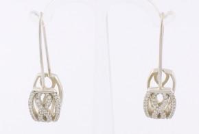 Сребърни обеци с циркони SO0014