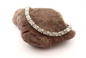 Сребърна гривна  с диаманти SGR0120