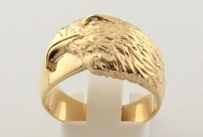 Мъжки пръстен от жълто злато MD0055