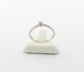 Годежен пръстен от бяло   злато с циркон- 1,83 грама, размер 57