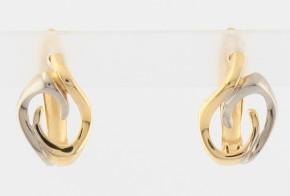 Златни обеци от бяло и жълто злато OB0166