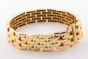 Масивна златна гривна от жълто злато GR0093