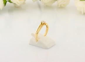 Годежен пръстен от жълто злато с диамант D2063