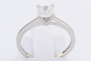 Годежен пръстен от бяло злато с циркон GD0127