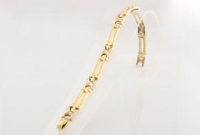 Масивна златна гривна от бяло и  жълто злато GR0099
