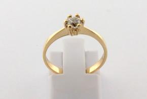 Годежен пръстен от жълто злато с диамант D2153