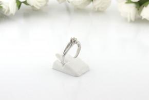 Годежен пръстен от бяло злато с диамант D2067