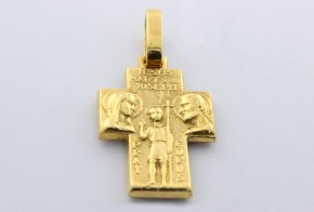 Златен кръст от  жълто злато VK0026