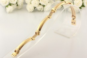 Златна гривна от жълто злато с циркони GR0085