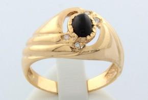 Мъжки пръстен от жълто злато MD0001