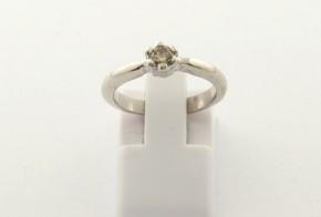 Годежен пръстен от бяло  злато с диамант D4016