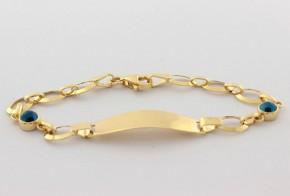 Златна  детска гривна от жълто златo GR0165