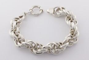 Сребърна гривна SGR0036