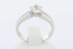 Годежен пръстен от бяло злато  с  диамант  D1012