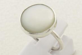 Дамски сребърен пръстен със седеф SD0124