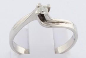Годежен пръстен от бяло злато с диамант D2041