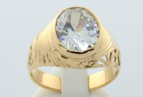 Мъжки пръстен от жълто злато MD0003