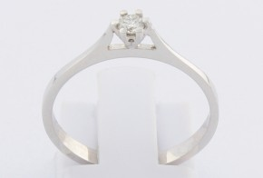 Годежен пръстен от бяло злато с диамант YZ82776