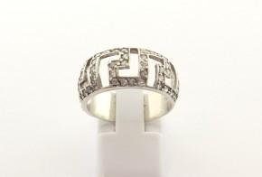 Дамски сребърен пръстен  с циркони SD0182