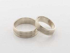 Брачни халки от бяло злато BH0277
