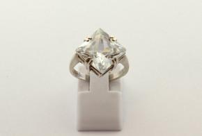Дамски сребърен пръстен  с циркони SD0173