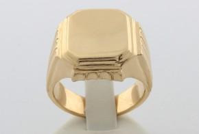 Мъжки пръстен от жълто злато MD0044