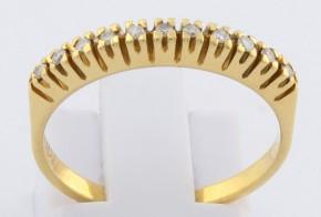 Дамски пръстен от жълто злато с диаманти D1004