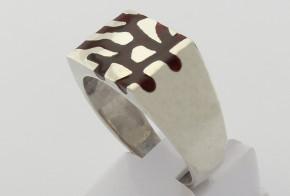Мъжки сребърен пръстен SM0082