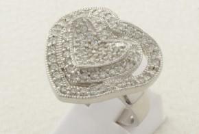 Дамски сребърен пръстен с циркони SD0123