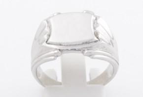 Мъжки пръстен от бяло злато MD0063