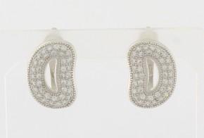 Сребърни обеци с циркони SO0112
